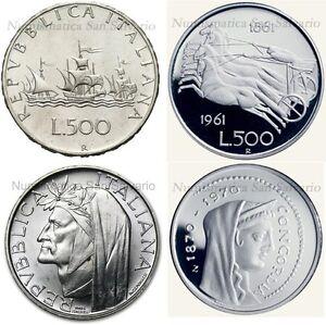 500-Lire-DANTE-CAVALLI-CARAVELLE-1958-al-1967-1-000-CONCODRIA-Argento