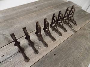 """8 Antique Style Shelf Brace Wall Bracket Cast Iron Brackets SMALL 3 1/2"""" X 4"""""""