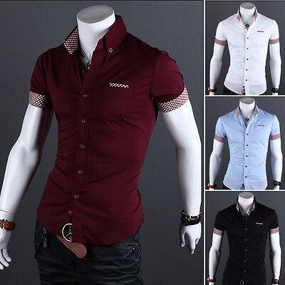 5D43 New Mens Luxury Casual Slim Fit Stylish Dress Shirts
