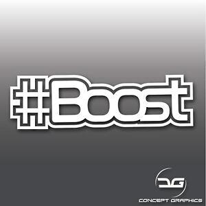 Funny-Hashtag-Boost-Turbo-Car-Bike-Vinyl-Decal-Sticker-JDM-DUB-Euro-Drift