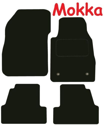 Vauxhall Mokka 2012 on Black Tailored Deluxe Quality Car Mats SUV 4x4 Jeep