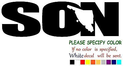 """SON SONORA Mexico State Map Vinyl Decal Sticker Car Window laptop tablet 7/"""""""