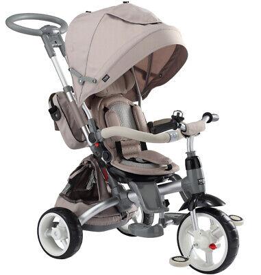 Sistematico Triciclo Passeggino Con Seggiolino Reversibile 6 In 1 Modi New Ivory Luminoso E Traslucido Nell'Apparenza