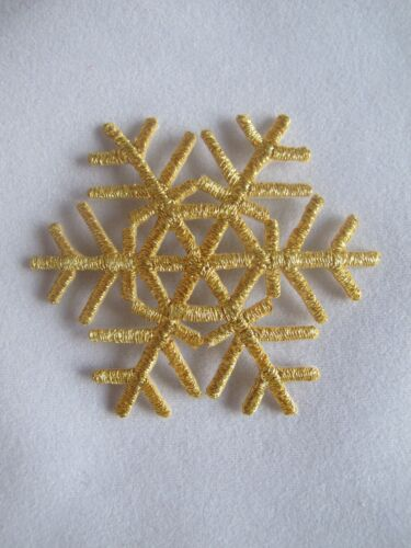 #3020 Golden,Silver Snowflake,Snow,Embroidery Iron On Applique Patch