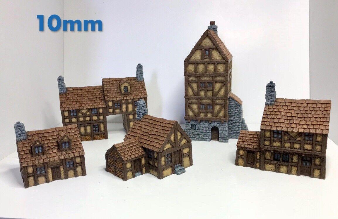 10mm Wargame buildings Timber Framed Buildings set