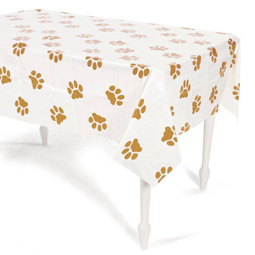 Puppy Party Plastic Tablecover Tablecloth Birthday Dog Event Pet Paws Convention