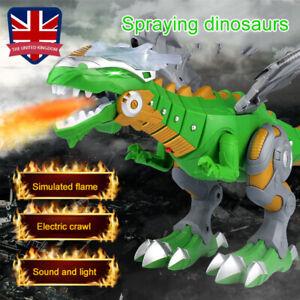 Walking Dragon Toy Fire Breathing Water Spray Light Dinosaur Kids Christmas Gift