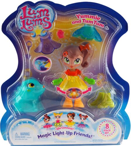 Bambola-yummie e TUM TUM Set 8 PEZZI LUM lums Magic Light-Up gli amici
