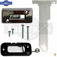 69 F-body Bucket Seat Head Rest Post Guide Escutcheon Chrome Base Release Lever