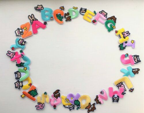 Sew on /& iron on embroidery Patch---cute bubble alphabet letter