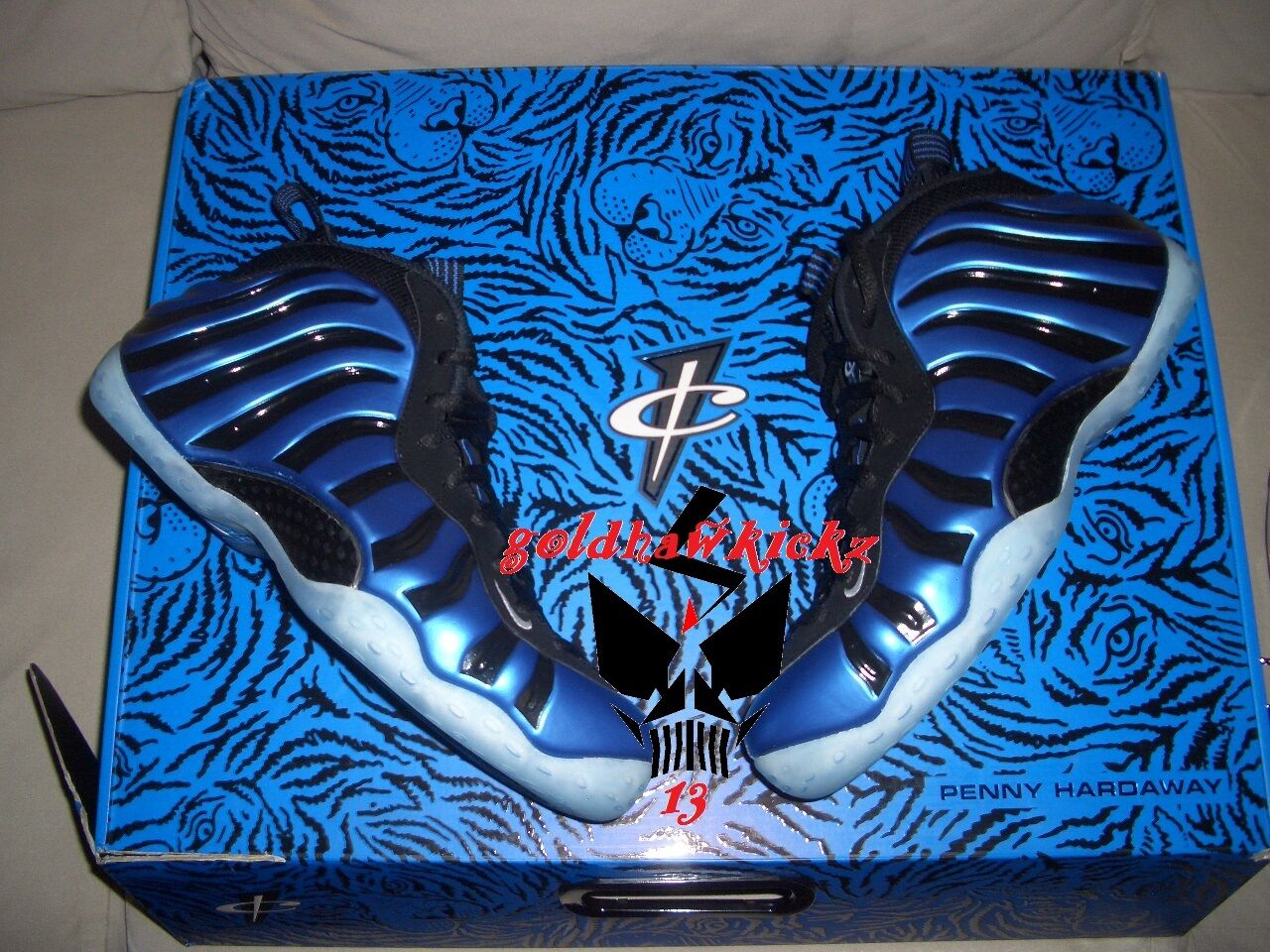 NIKE Foamposite ONE royal sharpie only hardaway orlando magic