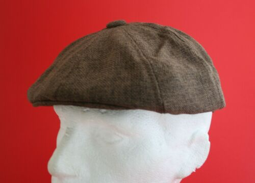 Brown, 100 /% Linen Lightweight Mens Flat Cap Small to large avail