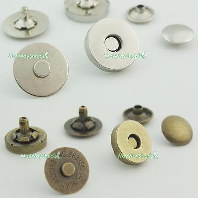 10 Sets Magnetic Snaps Double Caps Rivets Clasps Fastening Purses Buttons