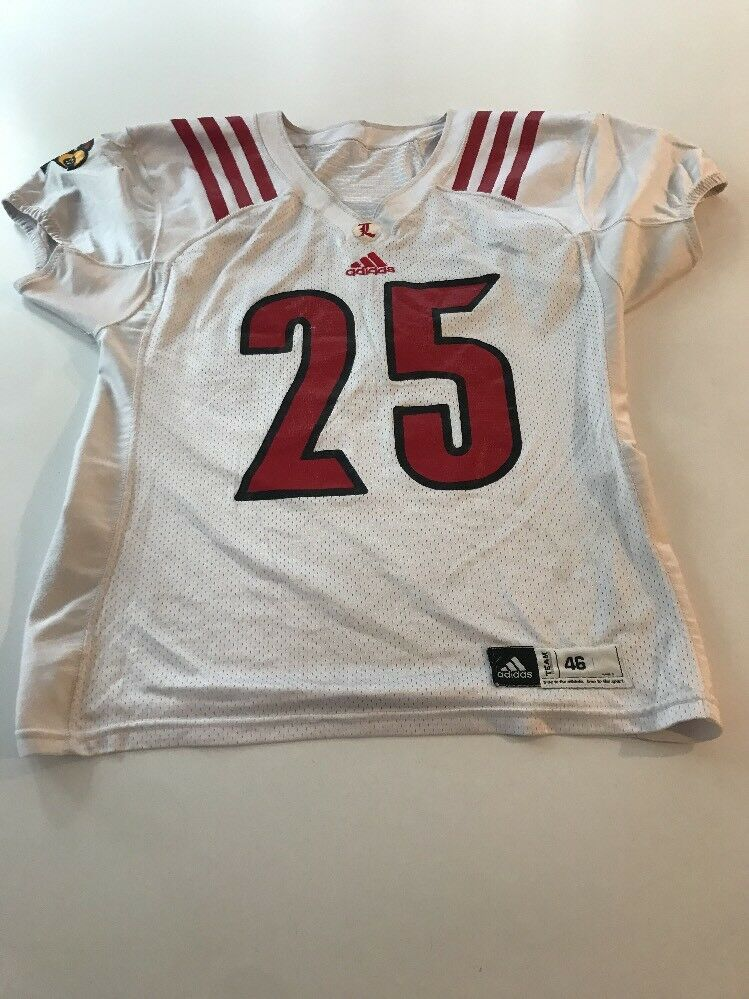 competitive price 0bc17 fcf6d Game Worn Used Louisville Cardinals Cardinals Cardinals UL Football Jersey  Adidas Size 46 2ee715