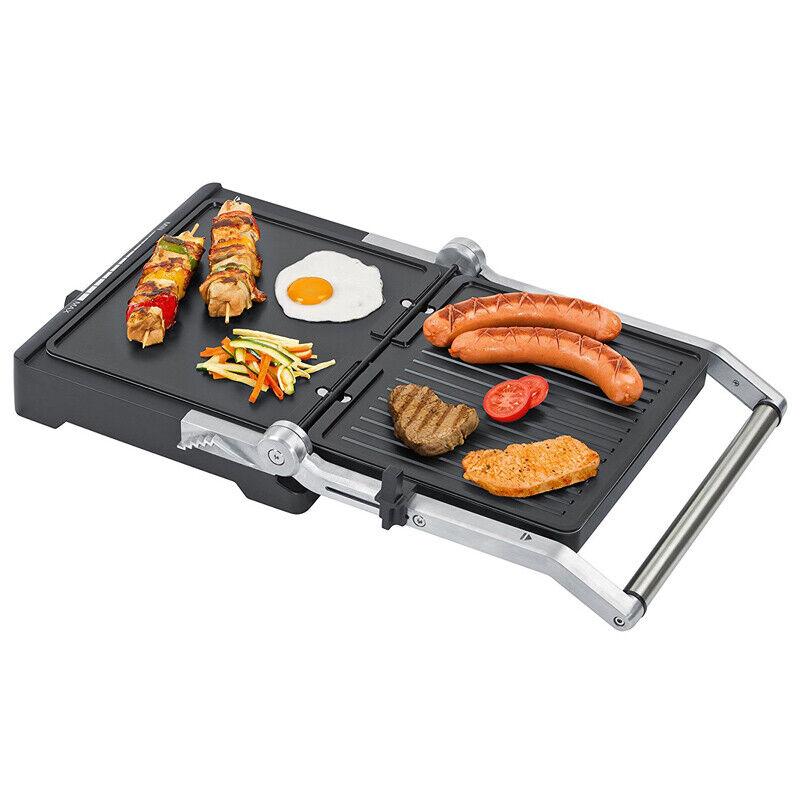 Steba FG 70 Cool-Touch Grill 1800 Watt 1x Flach und 1x Grillplatte NEU
