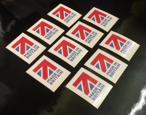 100 made in Britain flag Stickers self adhesive Labels 20mm x 15mm FREE POSTAGE!