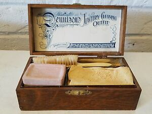 Ant-Dennison-039-s-Jewelry-Cleaning-Casket-Outfit-Complete-w-All-Orig-Contents