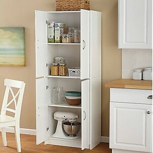 Tall Kitchen Pantry Cabinet Freestanding Shelf White Cupboard ... on kitchen storage cabinets, glass panels for kitchen cabinets, decorative glass for kitchen cabinets, kitchen shelves instead of cabinets, yellow kitchen cabinets, 1960s kitchen cabinets, target pantry cabinets, home depot kitchen cabinets, country pantry cabinets, freestanding closet cabinets, lowe's in stock kitchen cabinets, freestanding pantry with doors, walmart utility cabinets, butler pantry cabinets, freestanding pantry cabinet white, freestanding kitchen corner cabinets, home depot pantry cabinets, nantucket kitchen cabinets, freestanding pantry plans, free standing kitchen cabinets,