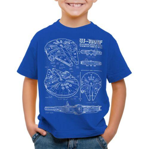 Millennium Falcon Enfants T-shirt Star colère FALKE étoiles wars la guerre de la Trappe