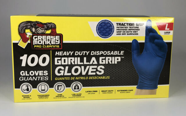 Latex Free 100ct Grease Monkey Pro Cleaning Nitrile Glove