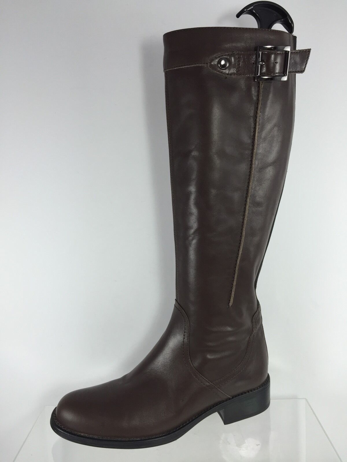 Aquatalia Womens Brown Leather Knee Boots 6.5