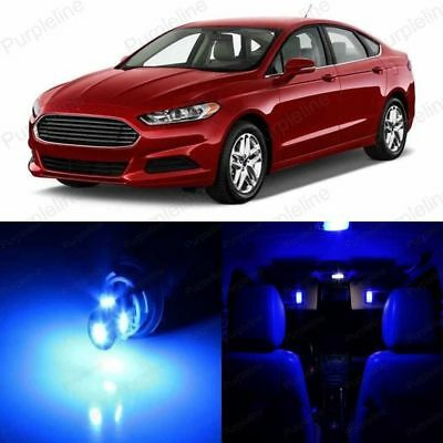 13 x Ice Blue LED Interior Light Package For 2006-2012 Ford Fusion Pry Tool