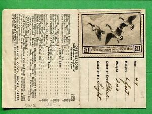 Illinois 1936 resident hunting license w rw3 unsigned for Fishing license ms