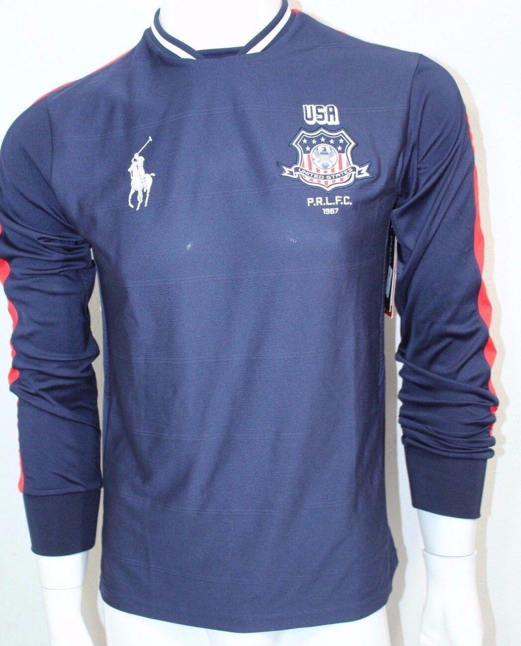 Ralph Lauren Polo Sport Men's Long Sleeved Jersey Navy bluee Sz X-Large NWT