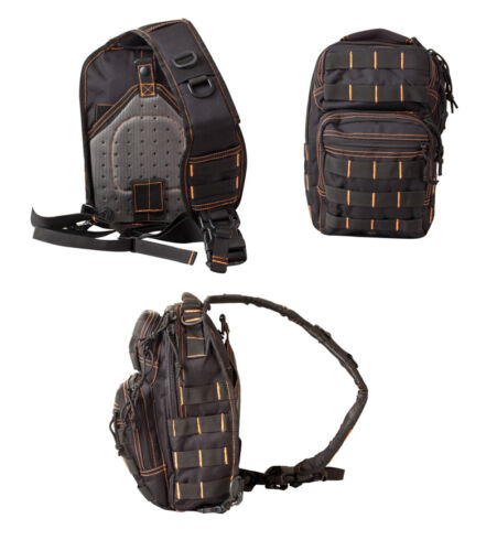 Army Military Day Pack Combat Bag Over Shoulder Travel Rucksack Molle New Black