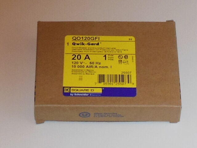 Square D QO120GFI 20 Amp Circuit Breaker | eBay