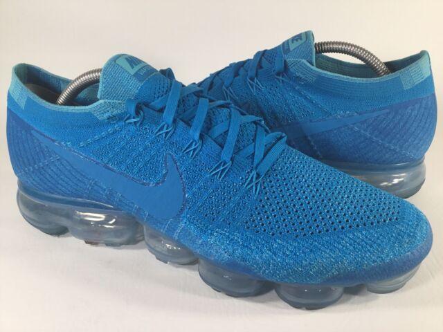low cost b1c40 c32ad Nike Air Vapormax Flyknit Blue Orbit White Mens Size 11 Rare 849558-402  Running