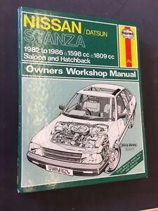 haynes manual 824 for nissan datsun stanza 1598cc 1809cc 1982 rh ebay ie Online Repair Manuals Haynes Repair Manual Online View