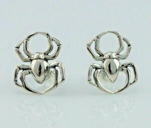 925 Sterling Silver Spider Stud Earrings