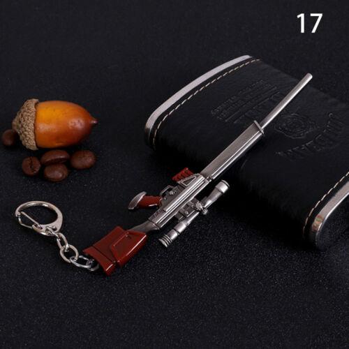 Men/'s 3D Gun Weapon Key Chain Car Key Ring Mini Cool Player Fashion Cute Gifts