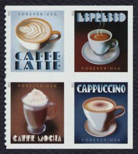 #5572a Café Espresso Bebidas, Se-Tenant Bloque, Nuevo Cualquier 5=