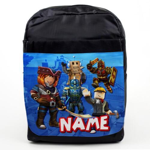 ROBLOX Backpack PERSONALISED Kids School Bag Boys Childrens Gamer NAME RB01