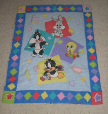 BABY LOONEY TUNES BLANKET BUGS BUNNY TWEETY BIRD SYLVESTER CAT DAFFY DUCK QUILT