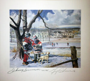 Let's Ask Lithograph, Signed: Johnny Bower & Gerry Cheevers
