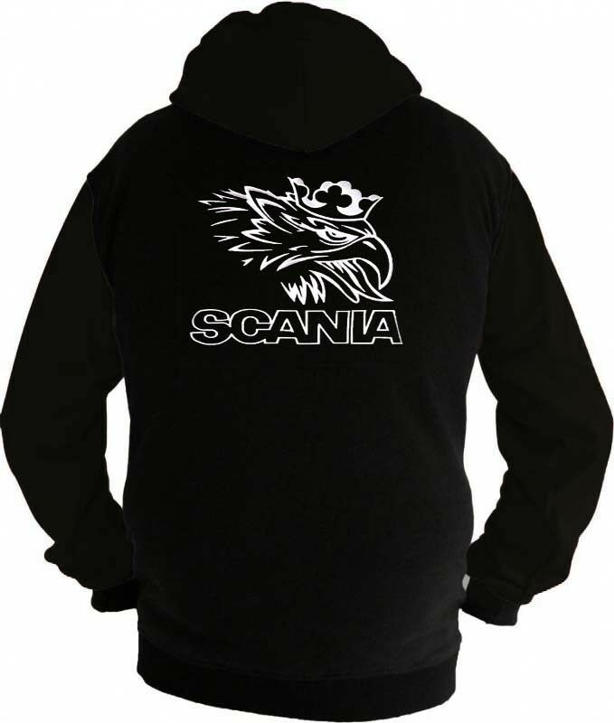 Scania V8 Trucker Fan Kapuzenjacke Sweatshirt Hoodie Lieferz. ca. 8 Tage