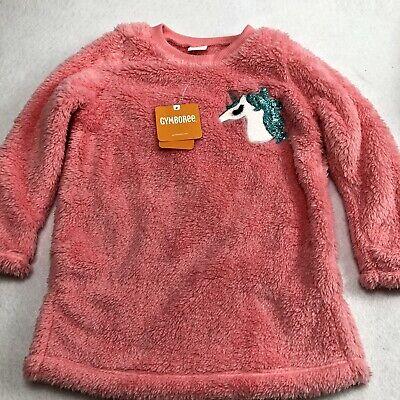 New Gymboree Girls Cozy Fairytale Line Petal Pink Tiara Owl Sweater Top NWT 4T
