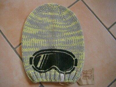 (352) Bambini Berretto Freaky Testa Beanie Inverno Cappello Occhiali Logo Di Stampa Flag Gr.51-