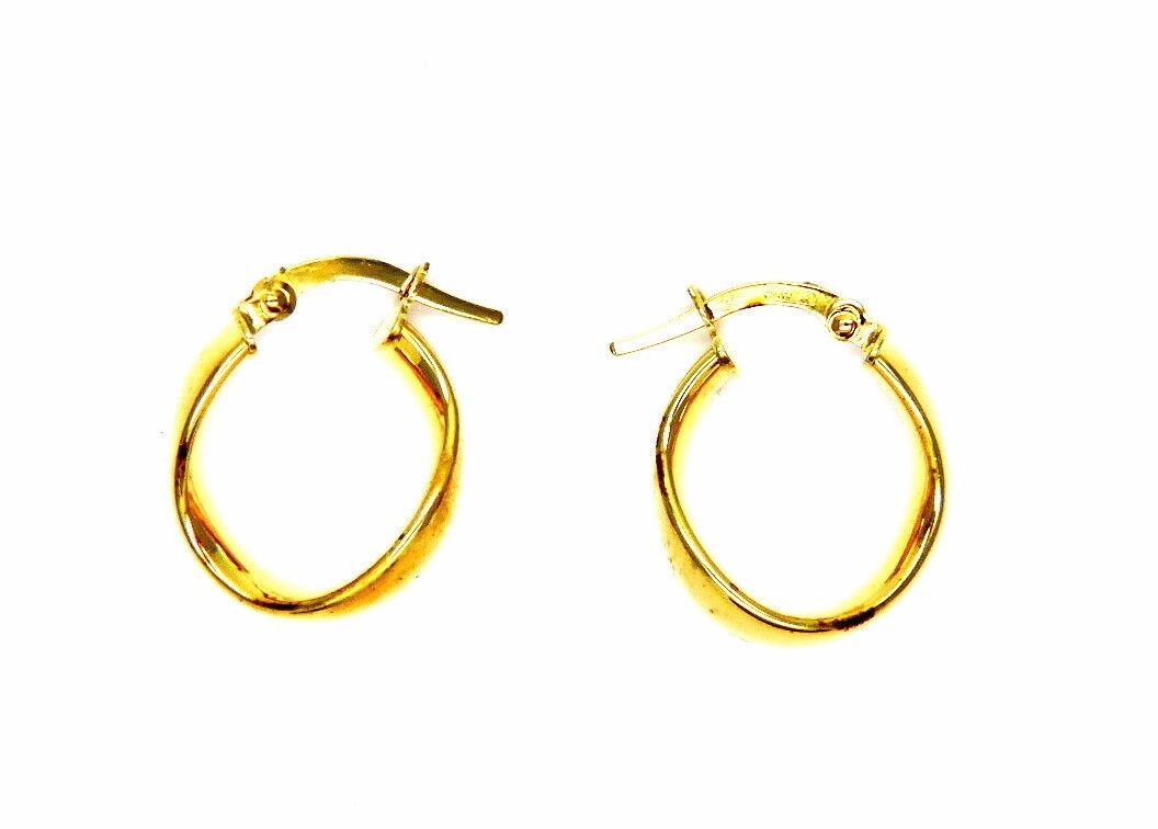 8a7b4c838073a gold EARRINGS 18KT RINGS - CIRCLES WAVY ubmb492162112-Precious Metal ...