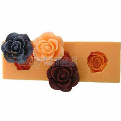 Rose Food Grade Silicone Mold for Polymer Clay Cake Decorating Flower 22mm A066