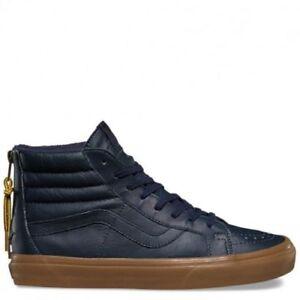 575fb4a10c3ac4 Vans Sk8-Hi Reissue Zip Hiking Men s Size 8.5 Navy Gum Blue Skate ...