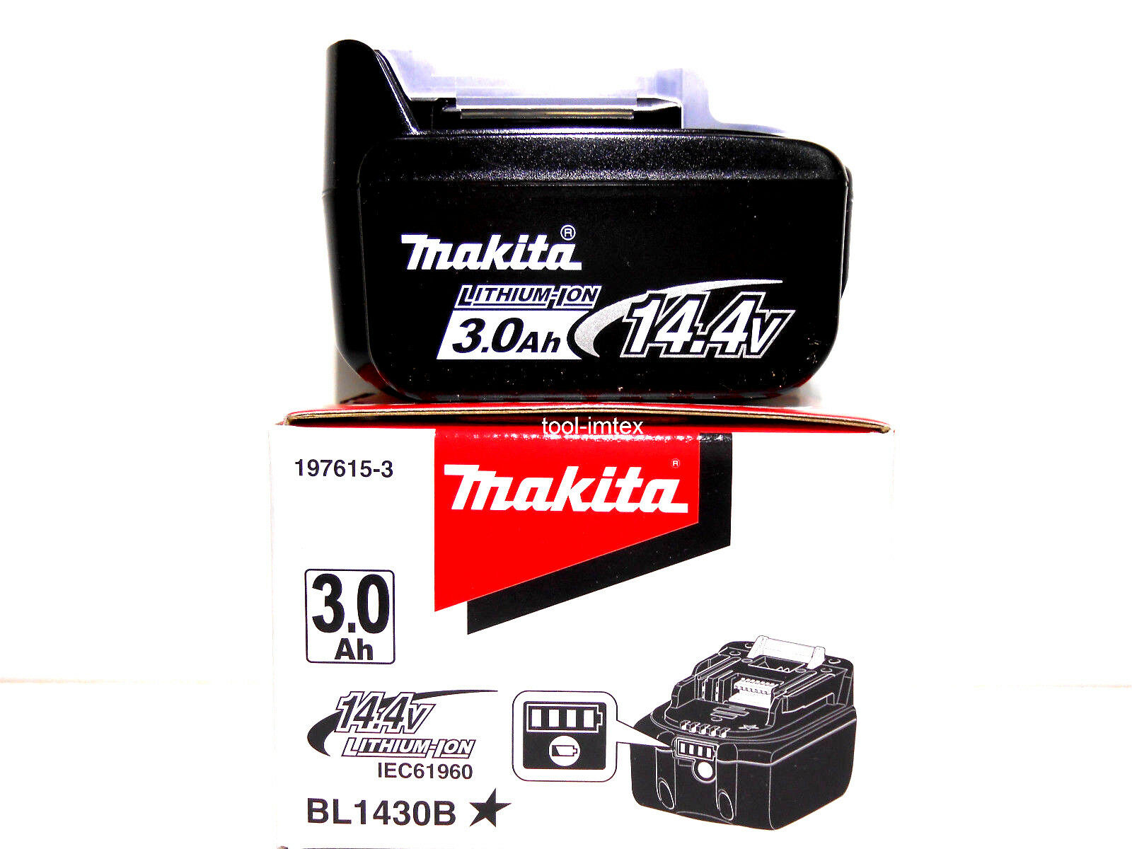 Makita Akku BL1430 B 3,0 Ah 14,4 V (für BDF440 BHP440 BDA340 BTD130 F BDF442)