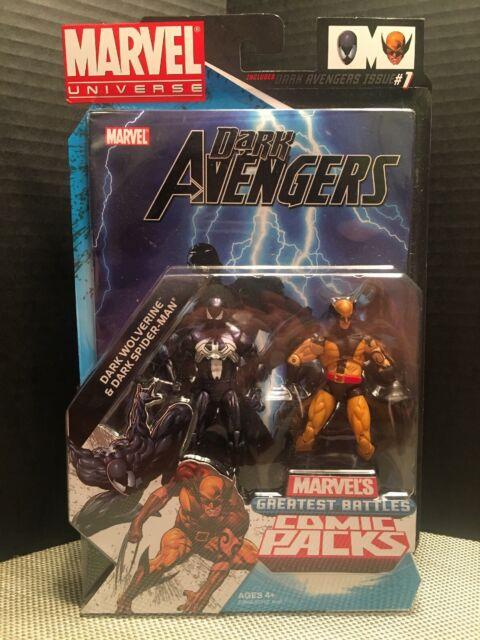 "Marvel Dark Spiderman & Wolverine Universe Comic Pack Dark Avengers 3.75"" Venom"