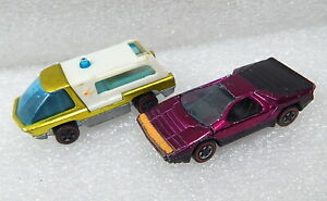 Vintage-Hot-wheels-red-line-1969-Heavyweights-Ambulance-Carado-lot