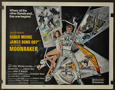 MOONRAKER 1979 ORIG 22X28 MOVIE POSTER ROGER MOORE MICHAEL LONSDALE LOIS CHILES