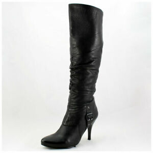 5th Avenue Stiefel Gr. 41 High Heels Lederstiefel schwarz Echtleder (#3428)