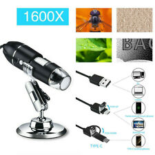 1600x Usb Wired Microscope Camera Magnifier Digital Android Phone Mac Windows 10